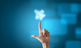 Εικονίδιο μεταφορών αεροπλάνων Στοκ Εικόνες