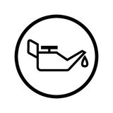 Εικονίδιο μεταλλικών κουτιών πετρελαίου στη γραμμή κύκλων - διανυσματικό εικονικό σχέδιο Στοκ Εικόνες