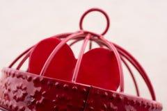 Εικονίδιο μορφής καρδιών στο κλουβί μετάλλων Στοκ Εικόνες