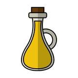 Εικονίδιο μπουκαλιών ελαιολάδου ελεύθερη απεικόνιση δικαιώματος
