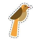 Εικονίδιο μυγών πανίδας περιστεριών πουλιών κινούμενων σχεδίων Στοκ Εικόνες