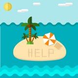 Εικονίδιο νησιών επίπεδο Στοκ εικόνες με δικαίωμα ελεύθερης χρήσης