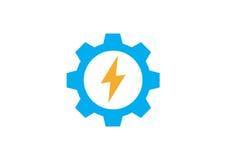 Εικονίδιο λογότυπων εργαλείων δύναμης Στοκ Φωτογραφίες