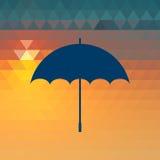 Εικονίδιο ομπρελών Στοκ φωτογραφία με δικαίωμα ελεύθερης χρήσης