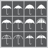 Εικονίδιο ομπρελών Στοκ Εικόνες