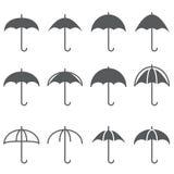 Εικονίδιο ομπρελών Στοκ Φωτογραφίες