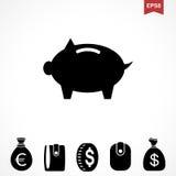 Εικονίδιο δολαρίων χρημάτων Στοκ εικόνα με δικαίωμα ελεύθερης χρήσης