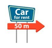 Εικονίδιο οδικών σημαδιών αυτοκινήτων μισθώματος Στοκ Φωτογραφία
