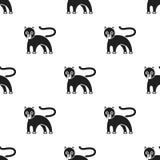Εικονίδιο πάνθηρων στο μαύρο ύφος που απομονώνεται στο άσπρο υπόβαθρο Διανυσματική απεικόνιση αποθεμάτων σχεδίων ζώων Στοκ Εικόνες