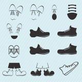 Εικονίδιο πάνινων παπουτσιών Στοκ Εικόνα