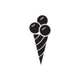 Εικονίδιο παγωτού, μονο διανυσματικό σύμβολο Στοκ φωτογραφία με δικαίωμα ελεύθερης χρήσης