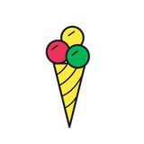 Εικονίδιο παγωτού, μονο σύμβολο Στοκ Φωτογραφία