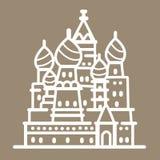 Εικονίδιο περιλήψεων απεικόνισης τέχνης γραμμών κτηρίου ορόσημων της Ρωσίας Στοκ φωτογραφίες με δικαίωμα ελεύθερης χρήσης