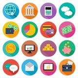 Εικονίδιο που τίθεται για τη χρηματοδότηση, διαχείριση επένδυσης Στοκ Εικόνα