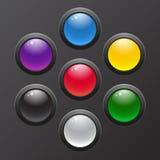 Εικονίδιο που τίθεται στιλπνό για τις εφαρμογές Ιστού. Στοκ Εικόνα