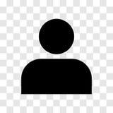 Εικονίδιο προσώπων - διανυσματικό εικονικό σχέδιο Στοκ Εικόνες
