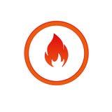 Εικονίδιο πυρκαγιάς Στοκ εικόνες με δικαίωμα ελεύθερης χρήσης