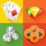 Εικονίδιο πόκερ στο διάνυσμα Στοκ φωτογραφίες με δικαίωμα ελεύθερης χρήσης