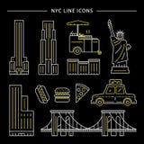 Εικονίδιο πόλεων της Νέας Υόρκης στοκ φωτογραφία με δικαίωμα ελεύθερης χρήσης