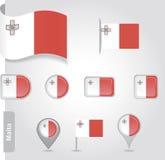 Εικονίδιο σημαιών της Μάλτας Στοκ Εικόνα