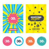 εικονίδιο σημαδιών έκπτωσης 30 τοις εκατό Σύμβολο πώλησης διανυσματική απεικόνιση