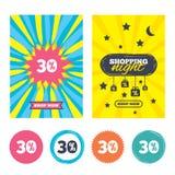 εικονίδιο σημαδιών έκπτωσης 30 τοις εκατό Σύμβολο πώλησης ελεύθερη απεικόνιση δικαιώματος
