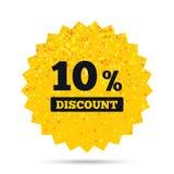 εικονίδιο σημαδιών έκπτωσης 10 τοις εκατό Σύμβολο πώλησης Στοκ Φωτογραφία