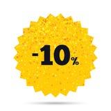 εικονίδιο σημαδιών έκπτωσης 10 τοις εκατό Σύμβολο πώλησης Στοκ εικόνα με δικαίωμα ελεύθερης χρήσης