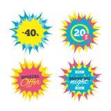 εικονίδιο σημαδιών έκπτωσης 40 τοις εκατό Σύμβολο πώλησης Στοκ φωτογραφίες με δικαίωμα ελεύθερης χρήσης