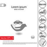 Εικονίδιο σημαδιών ασφαλείας αυτοκινήτου Στοκ εικόνα με δικαίωμα ελεύθερης χρήσης