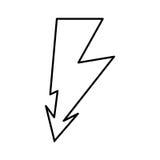 εικονίδιο σημαδιών βολτ ακτίνων διανυσματική απεικόνιση
