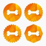 Εικονίδιο σημαδιών κόκκαλων σκυλιών Σύμβολο τροφίμων κατοικίδιων ζώων απεικόνιση αποθεμάτων