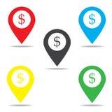 εικονίδιο σημαδιών δολαρίων Στοκ φωτογραφία με δικαίωμα ελεύθερης χρήσης