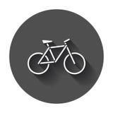 εικονίδιο σκιαγραφιών ποδηλάτων Στοκ Φωτογραφίες