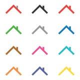 Εικονίδιο σπιτιών και σύνολο στοιχείων λογότυπων Στοκ Φωτογραφία