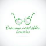 Εικονίδιο συμβόλων έννοιας λαχανικών γιαγιάς απεικόνιση αποθεμάτων