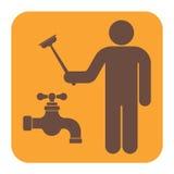 Εικονίδιο συμβόλων εργασίας υδραυλικών Στοκ φωτογραφίες με δικαίωμα ελεύθερης χρήσης
