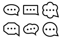 Εικονίδιο συνομιλίας Στοκ φωτογραφίες με δικαίωμα ελεύθερης χρήσης
