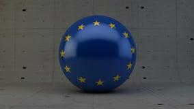 εικονίδιο σφαιρών σημαιών ευρωπαϊκών ενώσεων που απομονώνεται στο συγκεκριμένο δωμάτιο Στοκ Εικόνα
