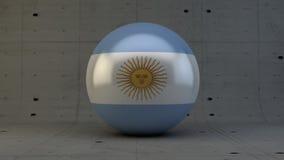 Εικονίδιο σφαιρών σημαιών της Αργεντινής που απομονώνεται στο συγκεκριμένο δωμάτιο Στοκ Εικόνες
