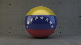 Εικονίδιο σφαιρών σημαιών της Βενεζουέλας στο συγκεκριμένο δωμάτιο Στοκ Φωτογραφίες