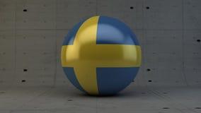 εικονίδιο σφαιρών σημαιών της Σουηδίας που απομονώνεται στο συγκεκριμένο δωμάτιο Στοκ Φωτογραφίες
