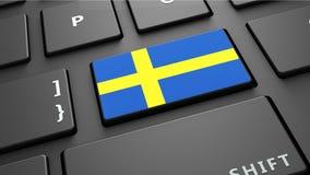 εικονίδιο σφαιρών σημαιών της Σουηδίας στο συγκεκριμένο δωμάτιο Στοκ φωτογραφία με δικαίωμα ελεύθερης χρήσης