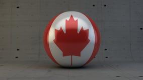 Εικονίδιο σφαιρών σημαιών του Καναδά στο συγκεκριμένο δωμάτιο Στοκ Φωτογραφίες