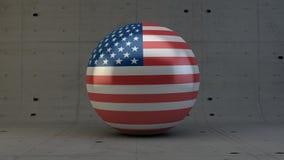Εικονίδιο σφαιρών σημαιών των Ηνωμένων Πολιτειών της Αμερικής στο συγκεκριμένο δωμάτιο Στοκ φωτογραφία με δικαίωμα ελεύθερης χρήσης
