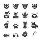 εικονίδιο σχεδίου γατών κινούμενων σχεδίων minimalistic Στοκ εικόνα με δικαίωμα ελεύθερης χρήσης