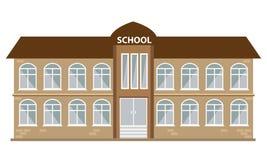 Εικονίδιο σχολικού κτιρίου με το επίπεδο ύφος χρώματος Διευκρινισμένο διάνυσμα Στοκ φωτογραφίες με δικαίωμα ελεύθερης χρήσης