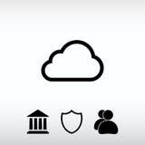 Εικονίδιο σύννεφων, διανυσματική απεικόνιση Επίπεδο ύφος σχεδίου Στοκ εικόνα με δικαίωμα ελεύθερης χρήσης