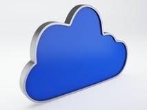 Εικονίδιο σύννεφων Στοκ φωτογραφία με δικαίωμα ελεύθερης χρήσης