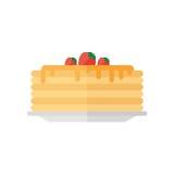 Εικονίδιο τηγανιτών που απομονώνεται στο άσπρο υπόβαθρο Στοκ Εικόνες